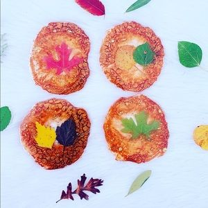 Fall Leaves Resin Coasters